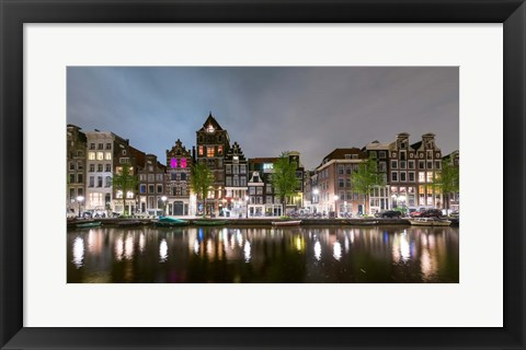 Framed Herengracht in Central Canal Ring Grachtengordel, North Holland, Netherlands Print