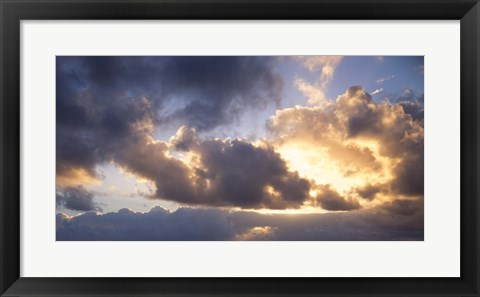 Framed Sun Breaking through the Clouds Print