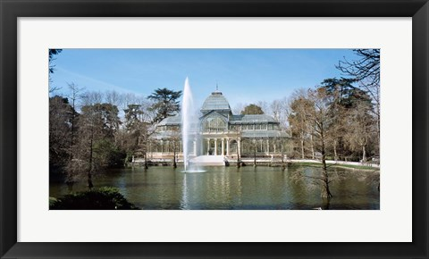 Framed Palacio De Cristal, Madrid, Spain Print