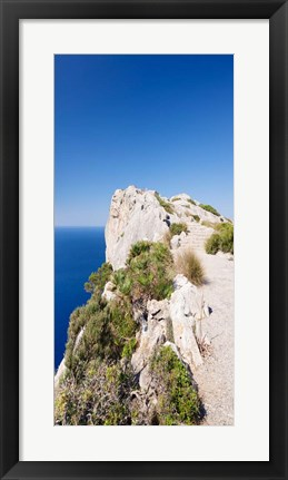 Framed Mirador d' Es Colomer, Majorca, Balearic Islands, Spain Print