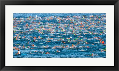 Framed Ford Ironman World Championship, Kailua Kona, Hawaii Print