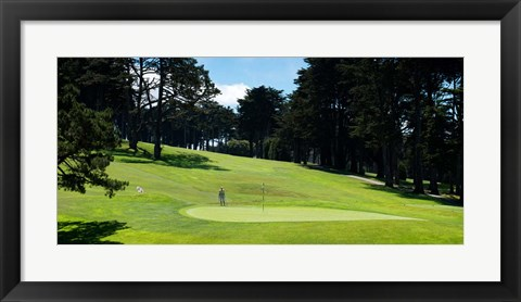 Framed Player at Presidio Golf Course, San Francisco, California Print