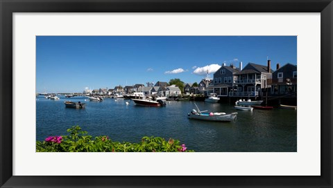Framed Nantucket Harbor, Massachusetts Print