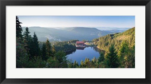 Framed Mummelsee Lake, Black Forest, Baden-Wurttemberg, Germany Print