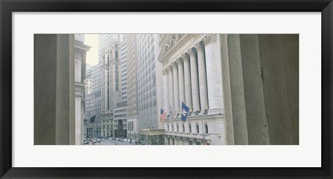 Framed New York Stock Exchange Wall, New York, NY Print