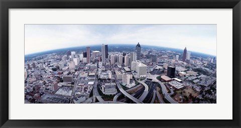 Framed Ariel View of Atlanta, Georgia Print