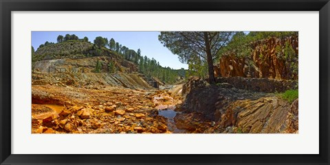 Framed Rio Tinto Mines, Huelva Province, Andalusia, Spain Print