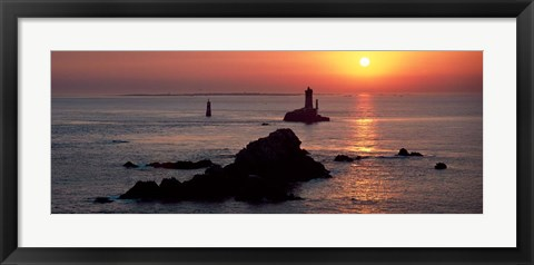 Framed La Vieille Lighthouse, Finistere, Brittany, France Print