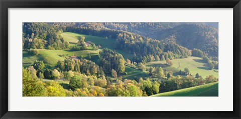 Framed Schauinsland Mountain, St. Ulrich, Black Forest, Baden-Wurttemberg, Germany Print