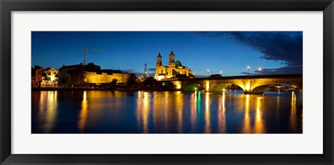 Framed St. Peter And Paul Church, River Shannon, Athlone, Republic of Ireland Print