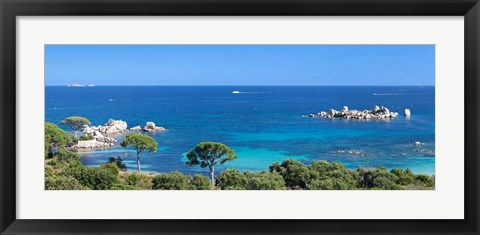 Framed Palombaggia Beach, Corse-Du-Sud, Corsica, France Print