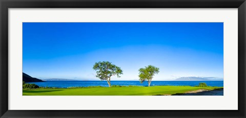 Framed Makena Golf Course, Hawaii Print
