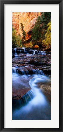 Framed North Creek, Zion National Park, Utah Print