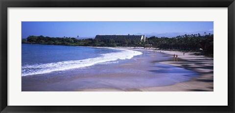 Framed Surf on the Beach, Mauna Kea, Hawaii Print
