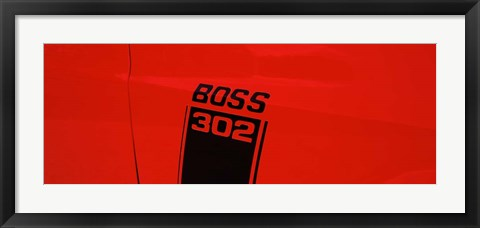 Framed Boss 302 Emblem Print
