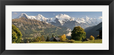 Framed Lauterbrunnen Valley with Mt Eiger, Switzerland Print