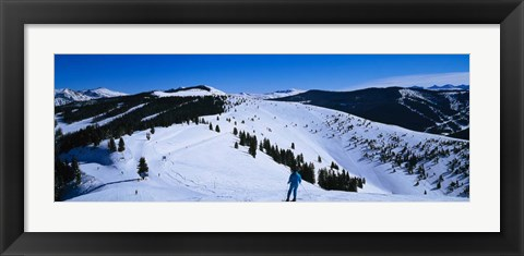 Framed Vail Ski Resort, Colorado Print