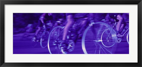 Framed Bicycle Race Print