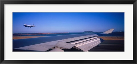 Framed Airplane Taking Off, San Francisco, California Print