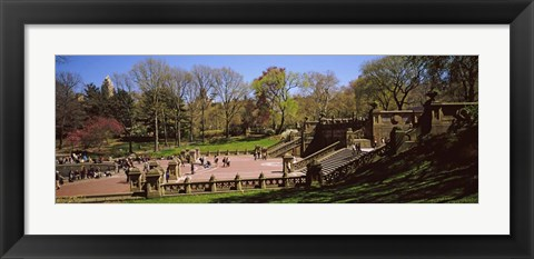 Framed Tourists enjoying at Bethesda Terrace, Central Park, Manhattan, New York City, New York State, USA Print