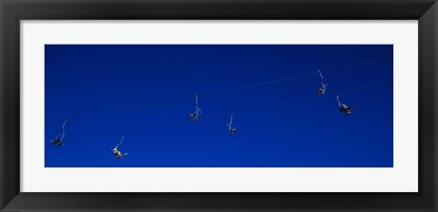 Framed Ski Lifts in Stuben, Austria Print