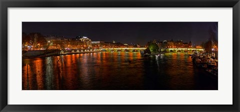 Framed River Seine from Pont des Arts, Paris, Ile-De-France, France Print