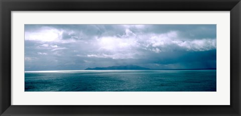 Framed Storm Clouds over New Zealand Print