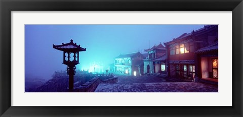 Framed Mount Taishan, Shandong Province, China Print