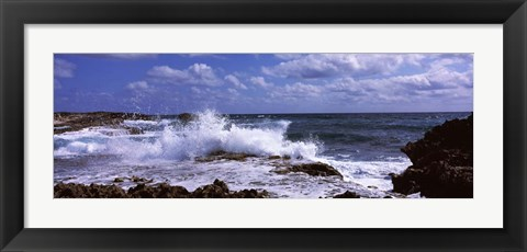 Framed Coastal Waves, Cozumel, Mexico Print
