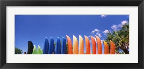 Framed Kayaks off the Gulf of Mexico, Florida Print