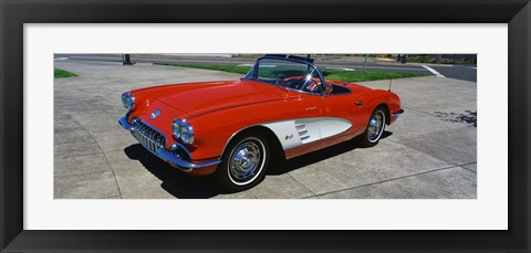 Framed 1959 Corvette Print