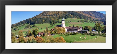 Framed St. Trudpert's Abbey, Black Forest, Baden-Wurttemberg, Germany Print