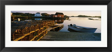 Framed Lobster Traps at a Dock, Change Islands, Canada Print