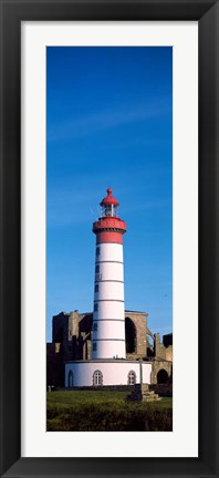 Framed Saint Mathieu Lighthouse, Finistere, Brittany, France Print