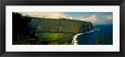 Framed Waipio Valley, Big Island, Hawaii Print