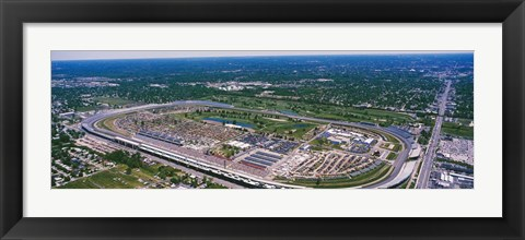 Framed Indianapolis Motor Speedway, Indianapolis, Indiana Print