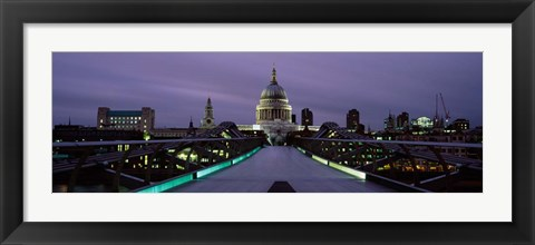 Framed St. Paul's Cathedral, London Millennium Footbridge, England Print