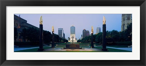 Framed War Memorial in Cenotaph Square, Marion County, Indiana Print