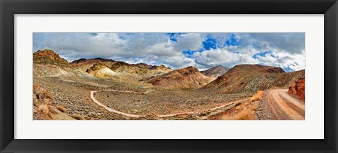 Framed Titus Canyon Road, Death Valley National Park, California Print