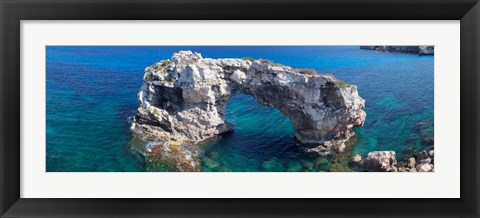Framed Es Pontas Natural Arch Balearic Islands, Spain Print
