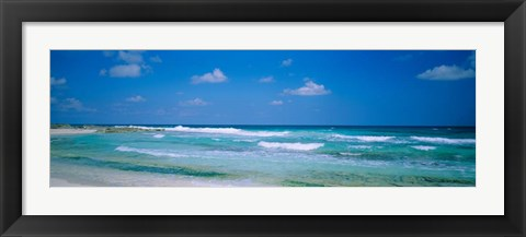 Framed Waves in Cancun, Mexico Print