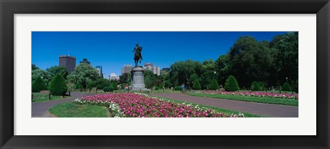 Framed Paul Revere Statue, Boston Public Garden, Massachusetts Print