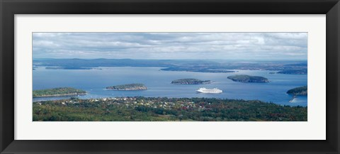 Framed Frenchman's Bay Bar Harbor, ME Print