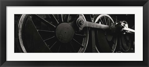 Framed Steam Locomotive Wheels Print