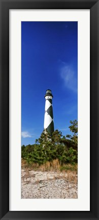 Framed Cape Lookout Lighthouse, Outer Banks, North Carolina Print