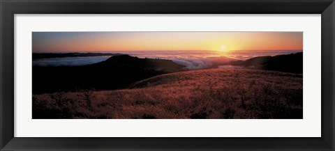 Framed Santa Cruz Mountains, CA Print