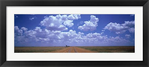 Framed Clouds Over Prairie, Amarillo, TX Print