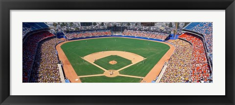 Framed Dodger Stadium, California Print