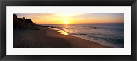 Framed Sunrise over Los Cabos, Mexico Print
