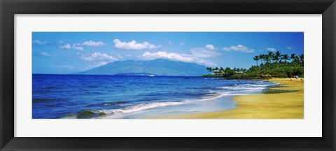 Framed Kapalua Beach, Maui, Hawaii Print